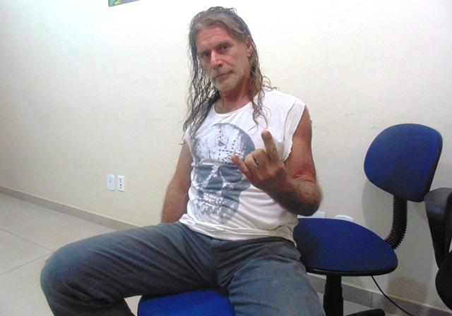 """A lenda """"Heavy Ney"""" Miranda, falecido em abril de 2016, foi um dos precursores do Rock e Heavy Metal em Rondônia. """"Paz e amor, galera"""". (Foto: Rondoniagora)"""