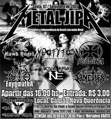 Cartaz METAL JIPA em Ji-Paraná.