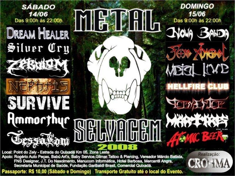 Cartaz Metal Selvagem em Rio Branco-AC.